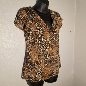 Sparkly American City Wear Small Leopard Print Top
